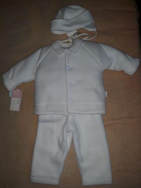 Nowe ubranko do chrztu rozmiar 80, ciepły komplet