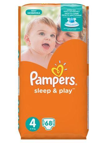 Памперсы Pampers sleep & play 4. 8-14 кг
