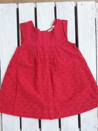 Sukienka czerwona idealna na wesele elegancka! Obaibi 59cm 3m rozm 62
