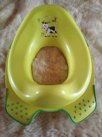 Podkładka na toaletę - przejściowa (zielona z krówką)