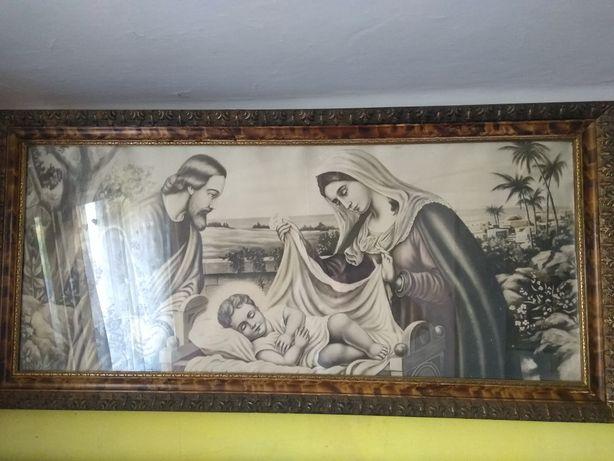 Obraz Świętej Rodziny. Stary