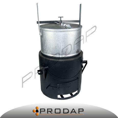 Parnik parownik ocynkowany 250 litrów z szamotem