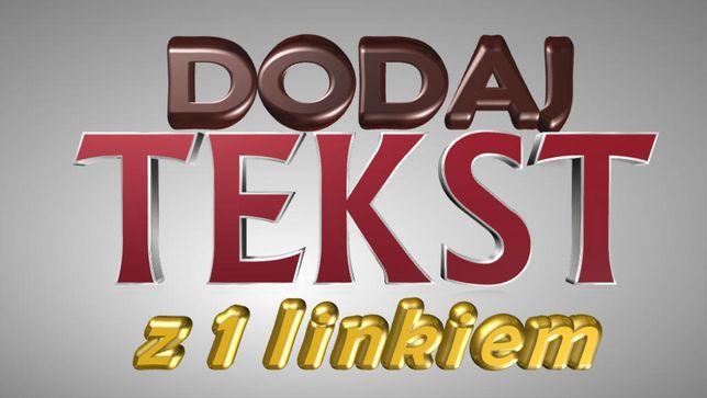 Dodaj własny tekst z 1 linkiem na stronie głównej ikatalogfirm.pl