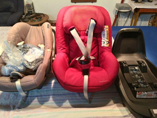 Isofix e duas cadeiras