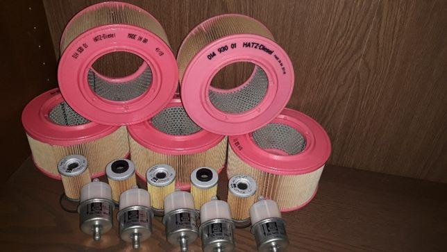 Hatz 1D81 zestaw filtrów 15 szt ORG 1D60 1D80 1D90 Wacker Ammann Weber