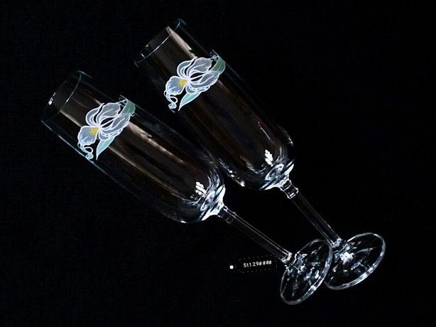 6szt. kieliszki kryształowe do szampana wina stare vintage retro