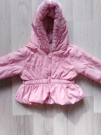 Różowa kurtka 62 68