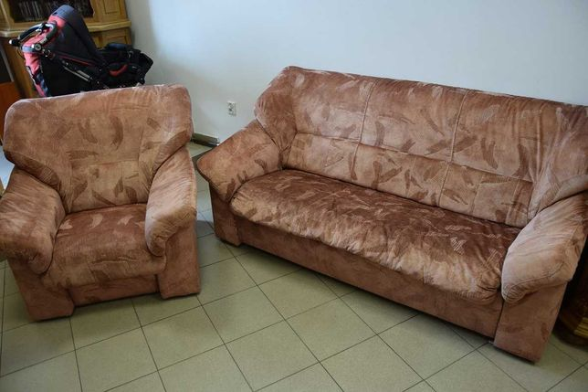 komplet wypoczynkowy kanapa+fotel