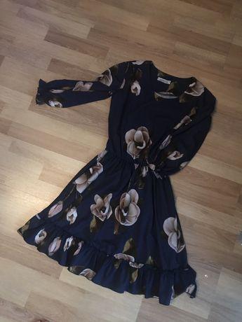 Сині сукні в квітки