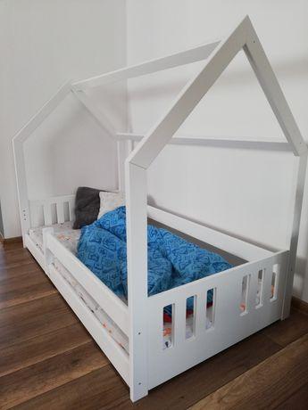 180x80 Łóżko domek S białe-DOSTĘPNE  OD RĘKI +STELAŻ GRATIS