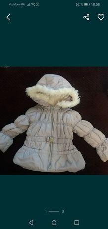 Курточка 80 размер на девочку. В подарок положу шапочку