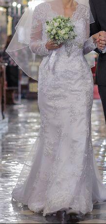 rozmiar 38-Suknia Ślubna 2019 kolor: biała