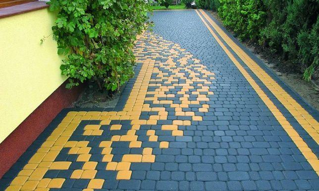 """Тротуарна плитка від виробника """"Золотий Мандарин"""" та """"Авеню""""."""