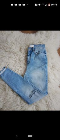 Spodnie jeansy skinny 36