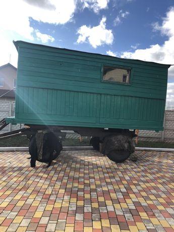 Вагончик для строителей бытовка на колёсах