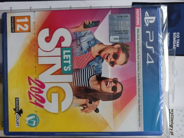 NOWE Let's Sing Gra + mikrofon PS4 PlayStation 4 PS5 Sing Singstar