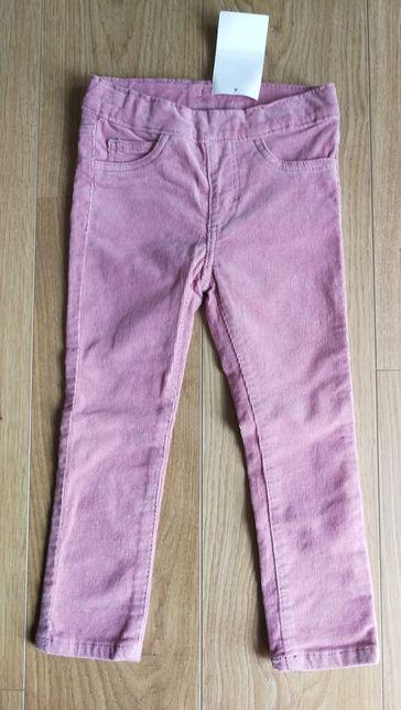 H&M Spodnie pudrowy róż 92 NOWE ciepłe
