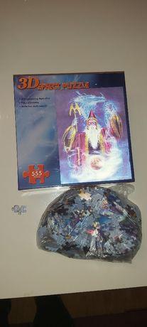 Puzzle 3D Czarnodziej, mag - 555 szt.