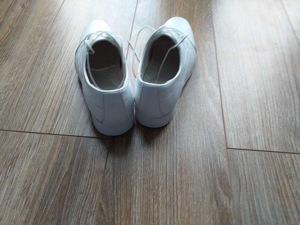 Buty komunijne, chłopięce,  roz. 32, białe