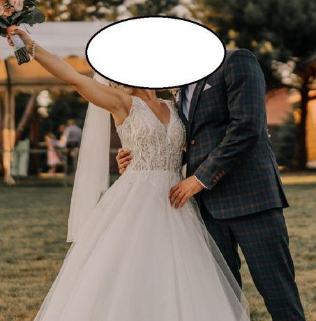Suknia ślubna rozm. 34 ecru