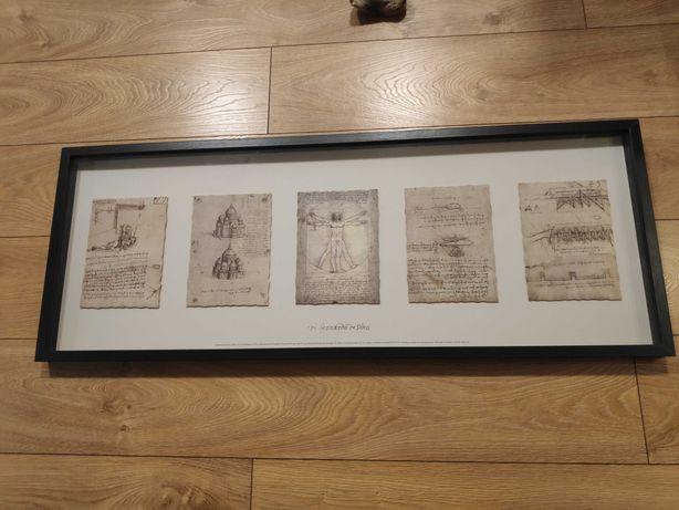 IKEA OLUNDA Obraz rysunki da Vinci 103x39 cm