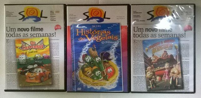 Pack de DVD's para crianças