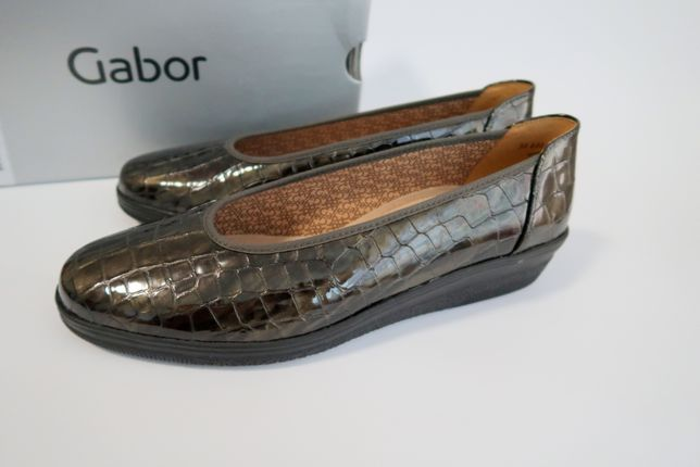 39 40 Gabor туфли весенние лаковые женские жіночі туфлі лакові на танк