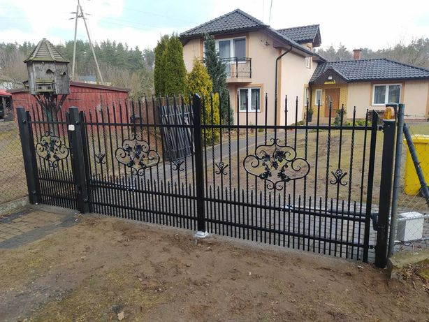 Balustrada, ogrodzenie, brama przesuwna i dwuskrzydłowa, schody itp