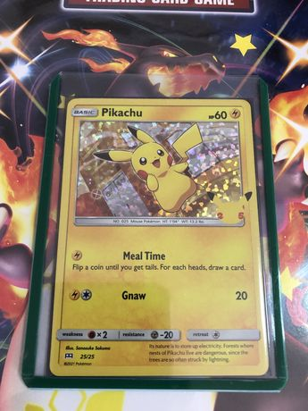 Carta Pokemon - Pikachu Holo Mcdonalds