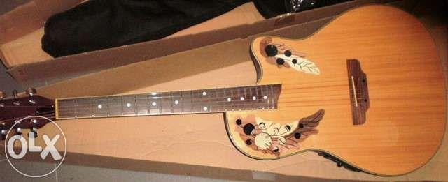 Guitarra roundback castanha tipo ovation