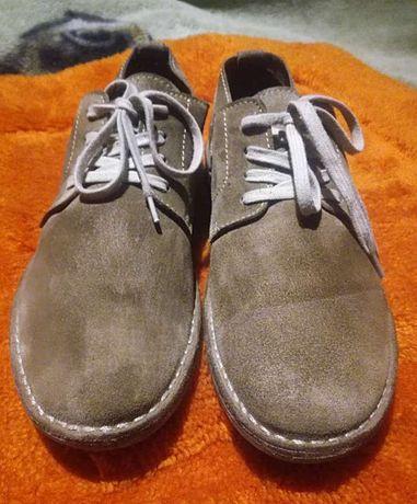 Buty męskie skórzane brązowe r. 42