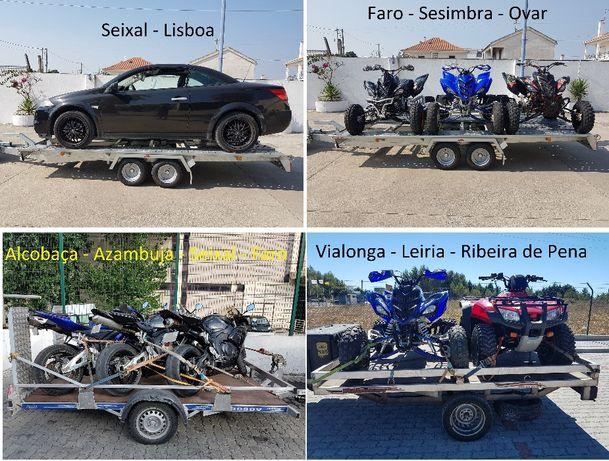 Transporte de motas karting moto4 carros