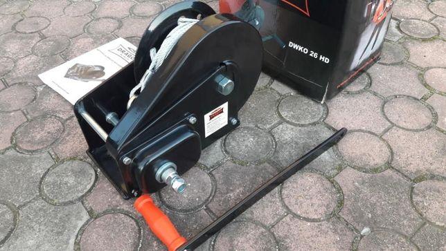 Wyciągarka korbowa, ręczna, Mocna, Dragon Winch DWK 26 HD
