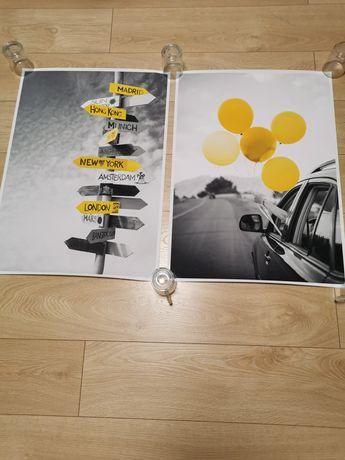 Plakaty na ścianę 70x50 Nowe 2 szt