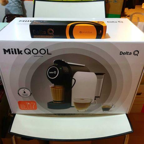 Nowy Ekspres do kawy Delta Milk QOOL Paragon i Gwarancja + GRATIS