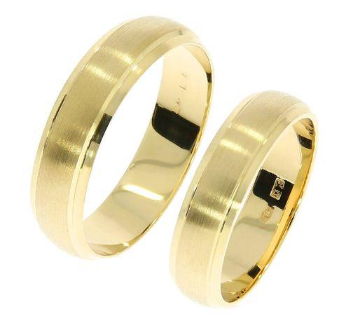 Obrączki ślubne złote 585 półokrągłe matowane