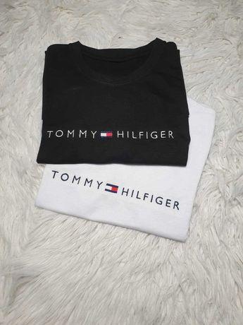 Koszulki wyszywane tommy hilfiger TH bawełna jeans S M L XL XXL