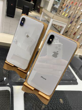 Б/У iPhone X 64Gb Silver Магазин Гарантия Обмен