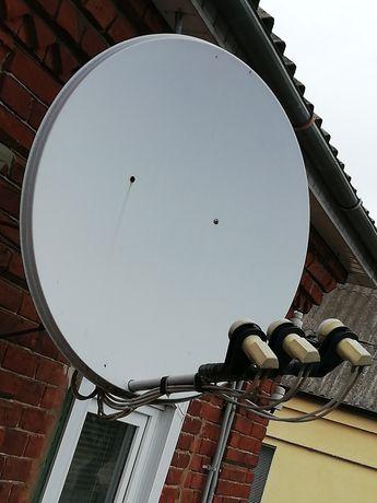 Спутникова антена (2 тарілки) і 2 тюнери