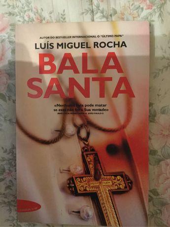 """Livro """"Bala Santa"""" de Luis Miguel Rocha"""