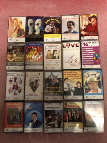 41 cassetes de música originais vendo ou troco