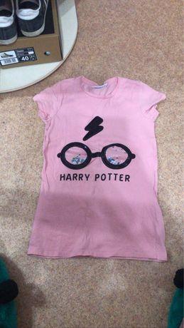 Футболка Гарри Поттер с паетками розовая Harry Potter