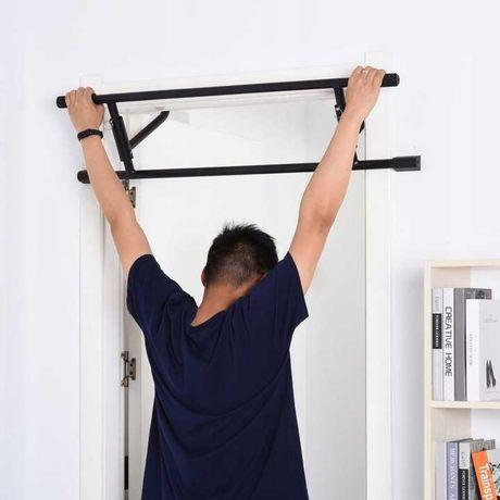 Stalowy drążek do ćwiczeń domowych Czarny