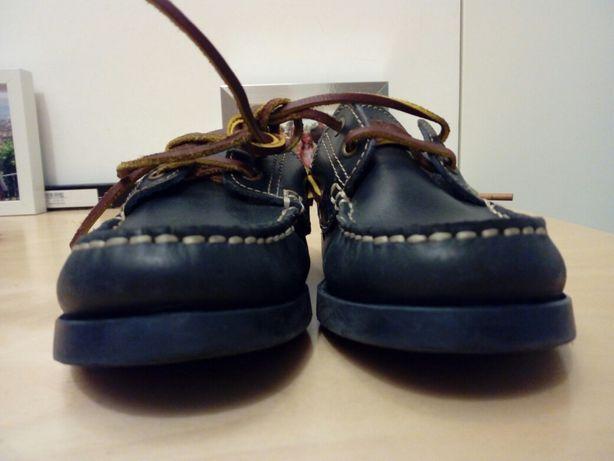 Sapato vela mocassim criança azul escuro