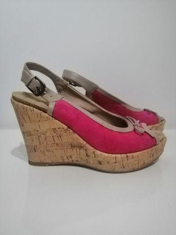 Sandały na koturnie 5th Avenue roz. 40