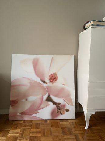 Quadro tela com orquídea novo