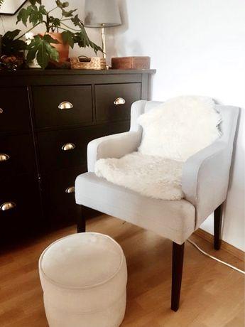 Fotel ala prl, uszak, muszelka, patyczak, vintage, boho
