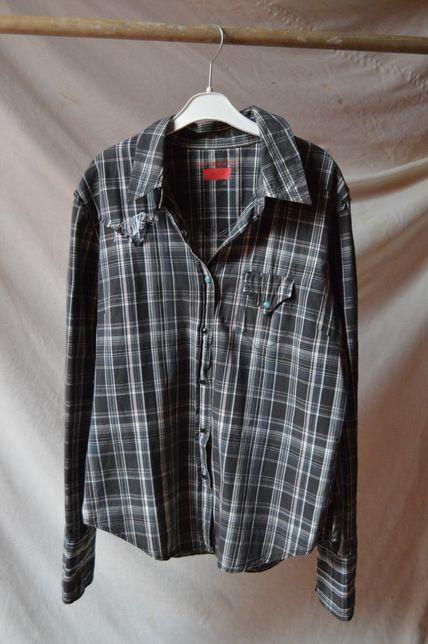 Koszula Levi's - krata, zatrzaski, vintage rozmiar M