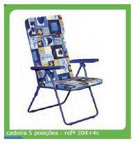 Cadeira almofadada 5 posições