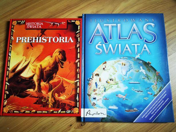 Książki dla dzieci: Historia świata: Prehistoria i Atlas Świata